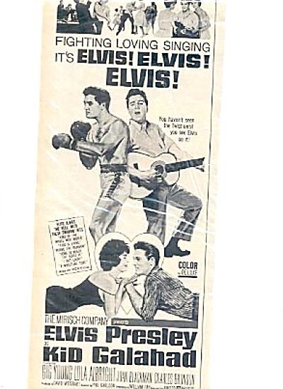1962 Elvis Presley Kid Galahad Boxer Twist Ad (Image1)