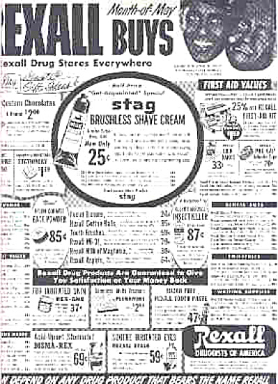 1951 Amos N Andy Rexall Drug Stores Ad (Image1)