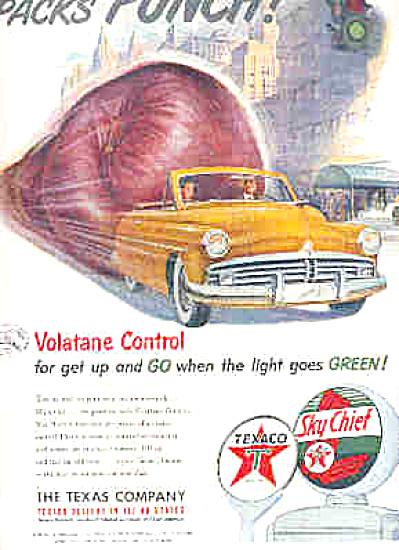 1951 TEXACO Sky Chief PACKS PUNCH Ad (Image1)