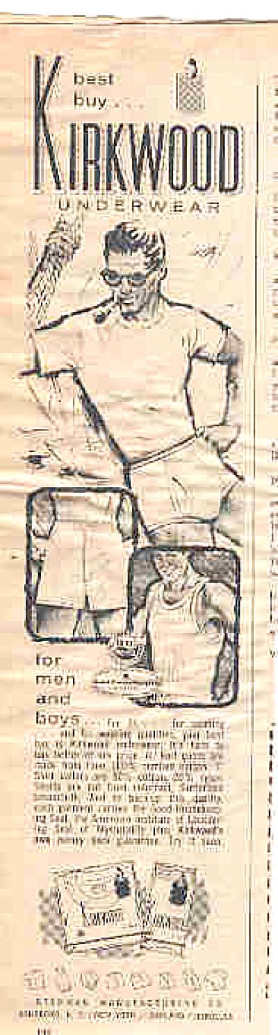 1964 Man In Kirkwood Underwear Ad (Image1)