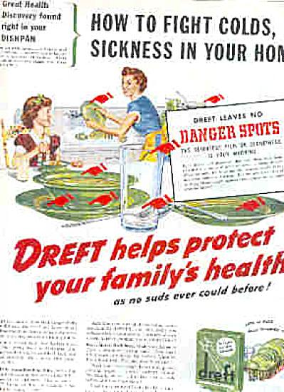 1949 Dreft Dishwashing Soap Retro Green Ad (Image1)