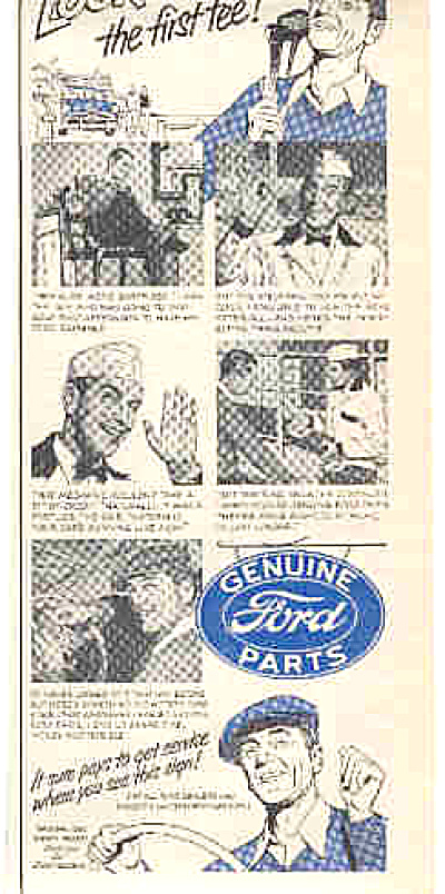 1951 Genuine Ford Parts Golf Ad (Image1)