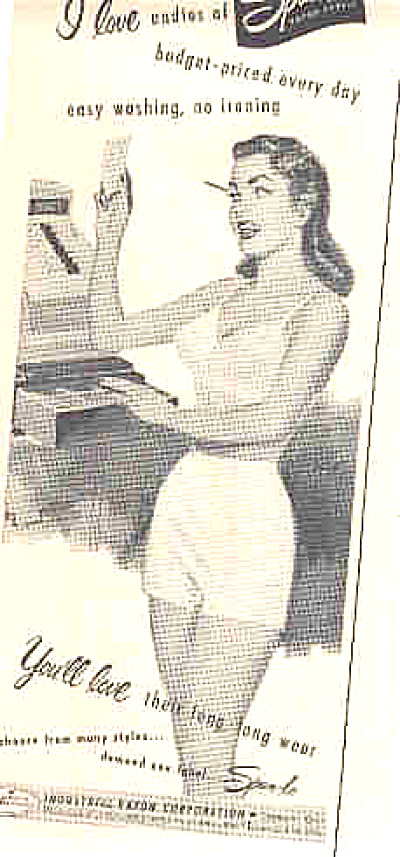 1951 Sexy Lady In Spun Lo Undies Ad (Image1)