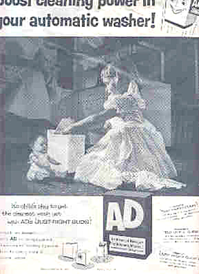 1956 Ad Detergent Little Girl And Dolly Ad (Image1)