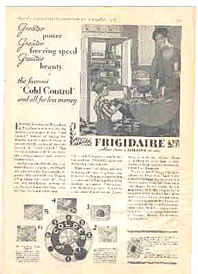 1929 Frigidaire Cold Control Refrigerator Ad Vintage  (Image1)