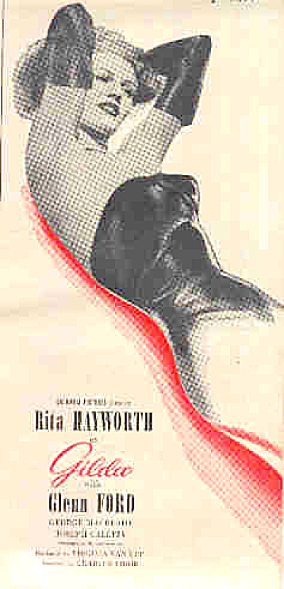 1946 Rita Hayworth GILDA Glenn Ford Movie Ad (Image1)