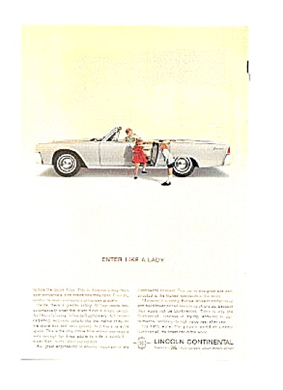 1963 Lincoln Continental By Ford Boy Girl Ad (Image1)