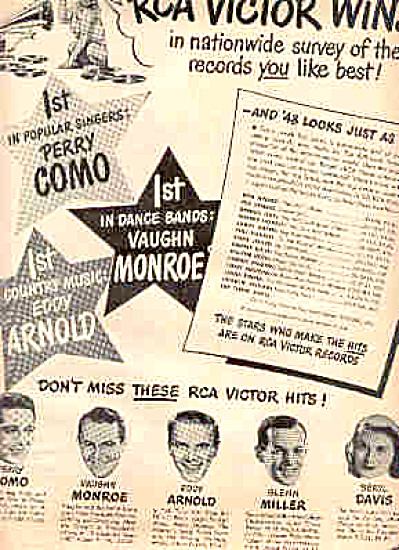 1948 Rca Perry Combo Glen Miller More Ad