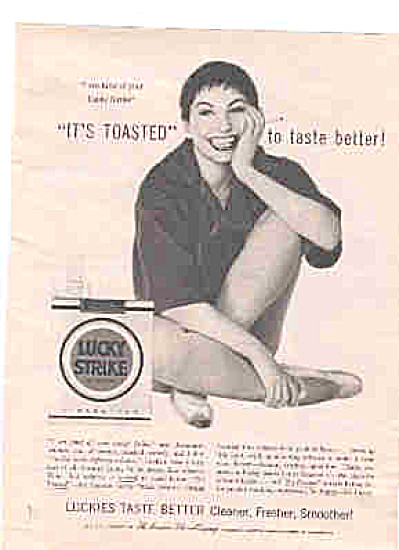 1954 Lucky Strike Ballet Star Jeanmaire Ad (Image1)
