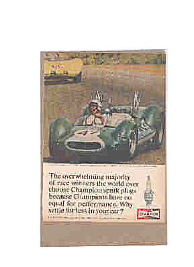 1964 Champion Spark Plugs Race Car Ad McLAREN (Image1)