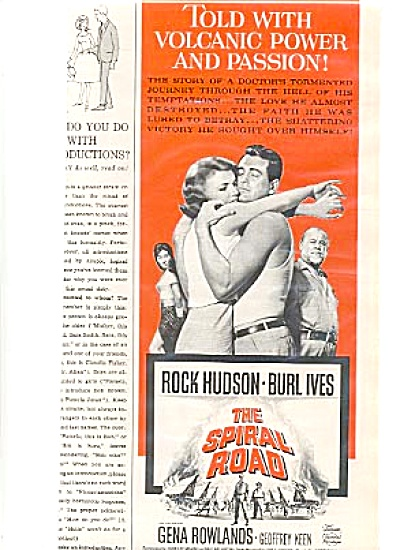 1962 Movie Ad Rock Hudson, Burl Ives