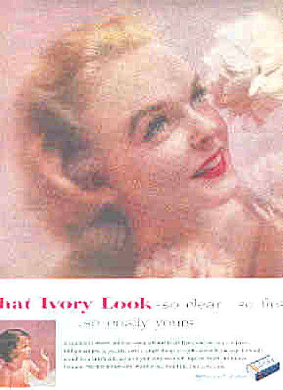 1957 Ivory Soap Beautiful Lady And Baby Ad (Image1)