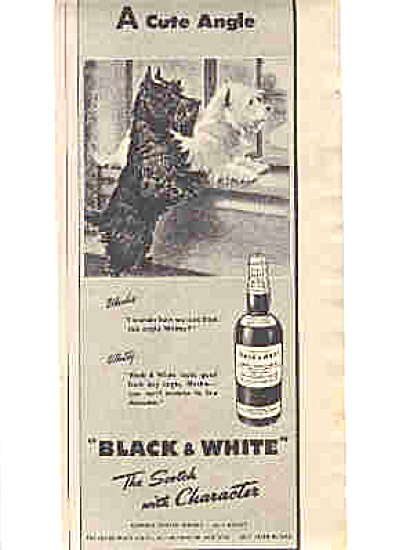 1947 Blackie/Whitey  Scotty Dogs Scotch Ad (Image1)