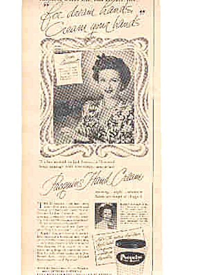 1949 Joan Bennett Pacquins Hand Cream Ad (Image1)