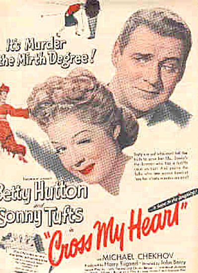 1946 Betty Hutton Cross My Heart Movie Ad (Image1)