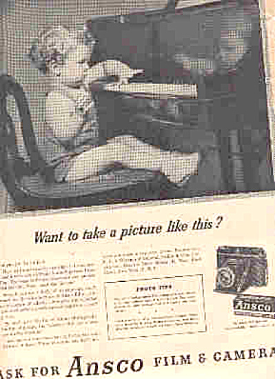 1946 ANSCO Film/Camera Little Boy Piano Ad (Image1)