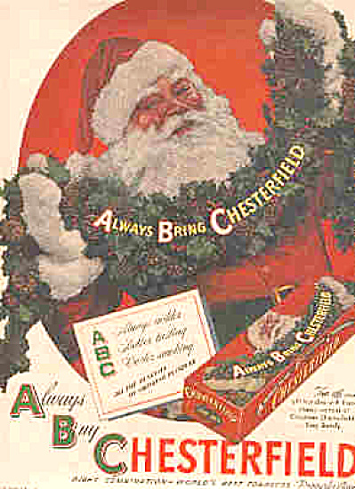 1946 Chesterfield Cigarettes Santa Claus Ad (Image1)