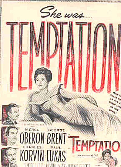 1946 Merle Oberon Temptation Movie Ad