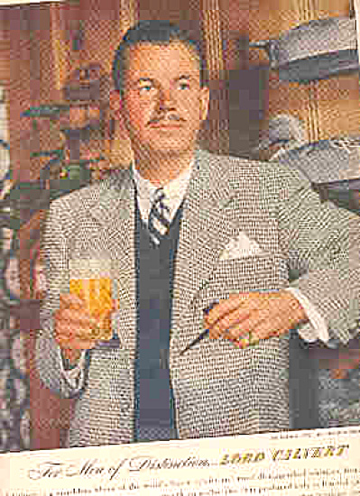 1947 Men Distinction Lord Calvert Whiskey Ad (Image1)