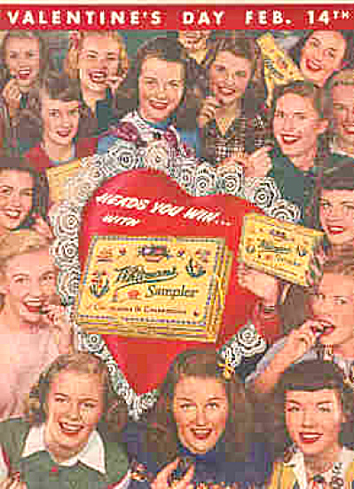 1947 Valentines Day Whitman's Candy Ad (Image1)