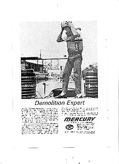 1963 Mercury Boat Motor Demolition Expert Ad (Image1)