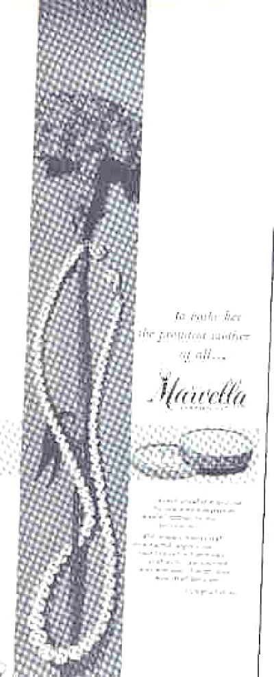 1957 Marvella Simulated Pearls JEWELRY AD (Image1)