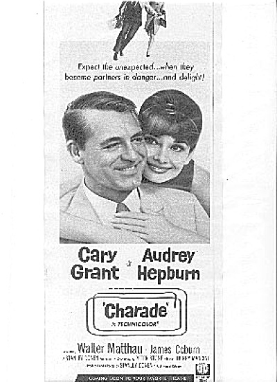1963 Cary Grant Audrey Hepburn Charade Movie