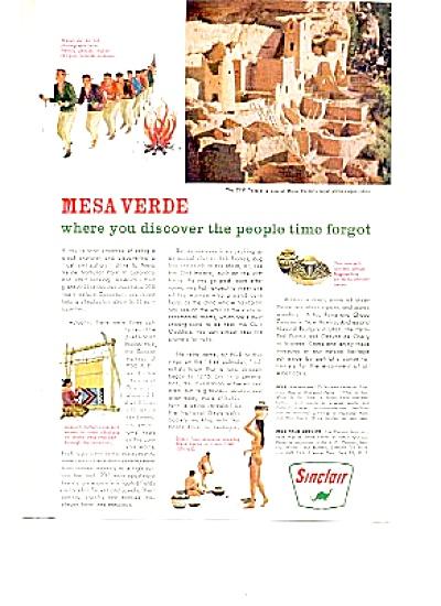 1963 SINCLAIR OIL Mesa Verde Ad (Image1)