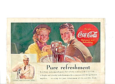 1938 Soda Jerk Coca-cola Ad