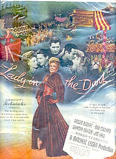 1944 Lady In The Dark Ginger Rogers Movie AD (Image1)