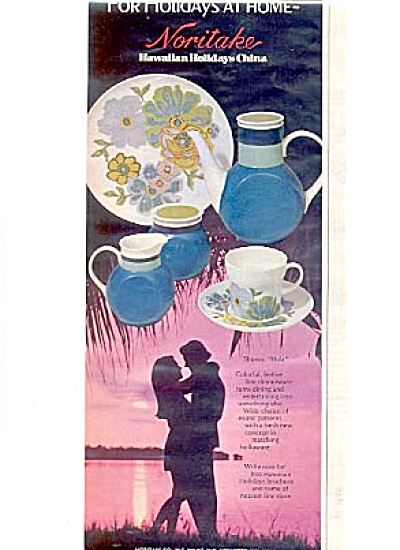1972 Noritake HULA Hawaiian Holiday China Ad (Image1)