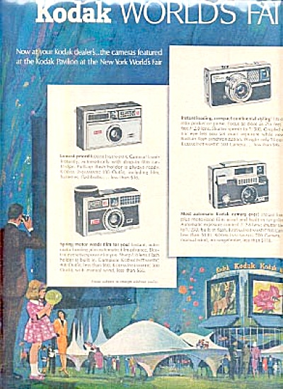 1964 2 Page Ad Kodak Cameras Worlds Fair (Image1)
