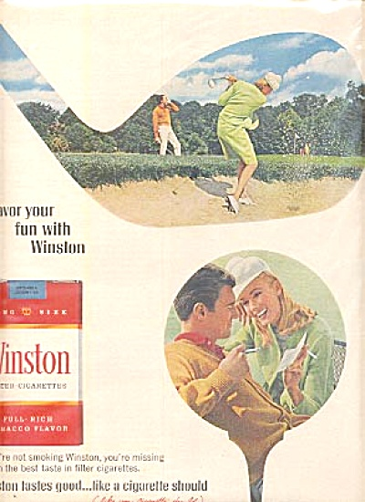 1966 WINSTON CIGARETTE Playing GOLF AD (Image1)