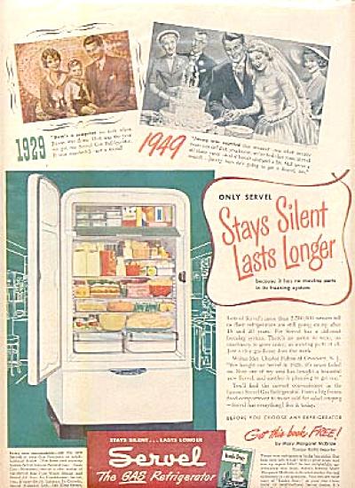 1949 Servel Gas Refrigerator 20 Years AD (Image1)