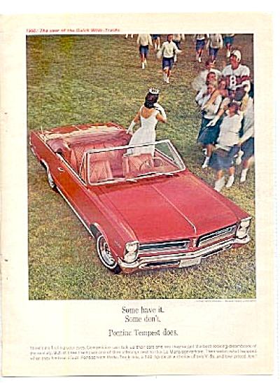 1964 Pontiac Tempest Beauty Queen Ad (Image1)