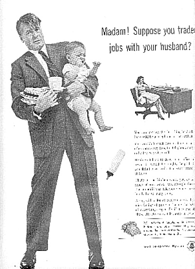 1956 Man With Baby Bell Telephone System Ad (Image1)