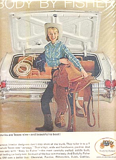 1964 Cowgirl Body By Fisher Saddle Ad (Image1)