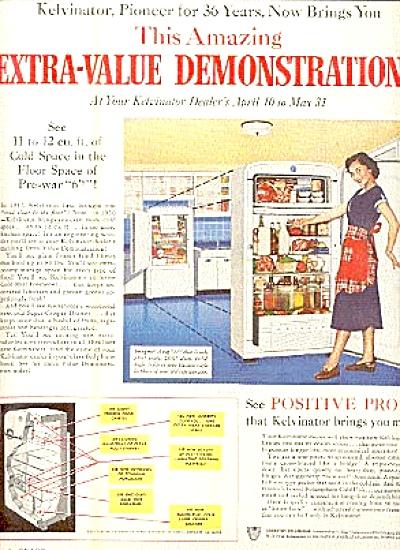 1950 Kelvinator Demonstration Refrigerator Ad (Image1)