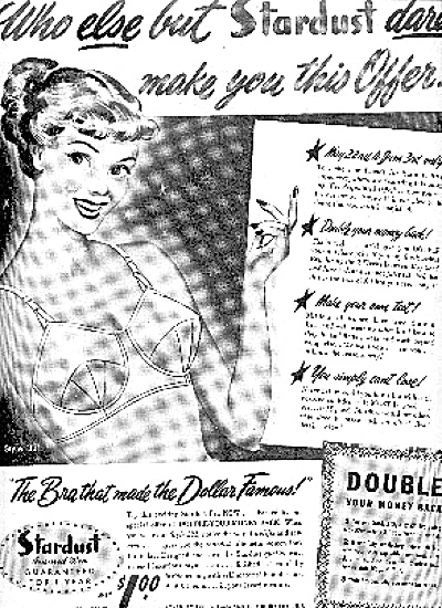 1950 Lady In Stardust Bra Ad (Image1)