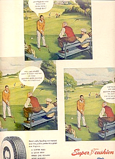 1950 Men On Golf Course Goodyear Tire Ad (Image1)
