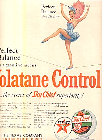 1950 Twirling Lady Texaco Sky Chief Ad (Image1)