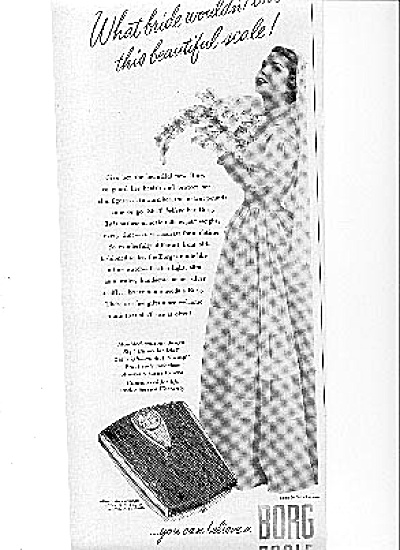 1950 Borg Scale Bride Gown By Ceil Chapman Ad (Image1)