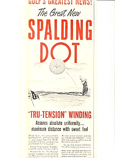 1950 Spalding Dot Tru-Tension Golf Ball Ad (Image1)