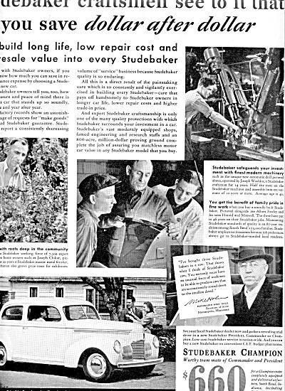 1939 Studebaker Champion CAR Ad (Image1)