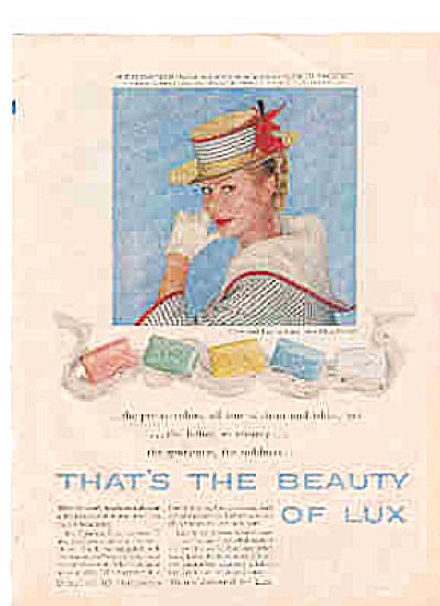 1958 Mitzi Gaynor LUX Soap Ad (Image1)
