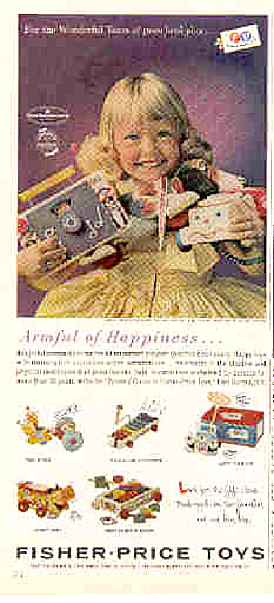 1962 Preschool Fisher Price Toys Ad (Image1)