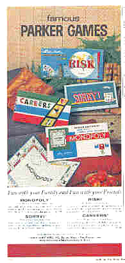 1962 Parker Brothers Games Monopoly + Ad (Image1)