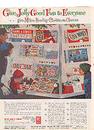 1962 Milton Bradley Christmas Games Ad (Image1)