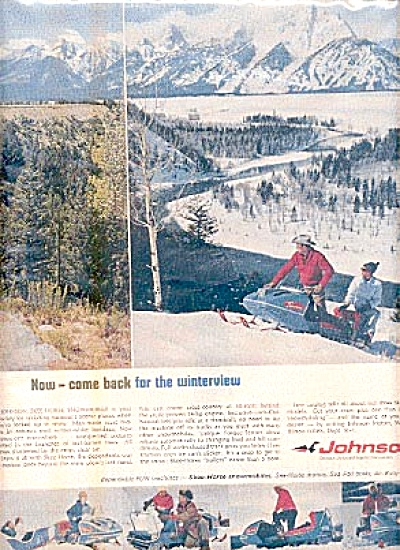 1966 Johnson Sea Horse Motors Snowmobiles AD (Image1)