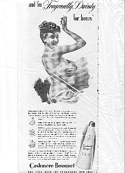 1943 Sexy Nude Lady Cashmere Bouquet Ad (Image1)